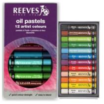 pastel oleoso reeves 12 cores
