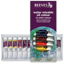 tinta oleo soluvel agua reeves