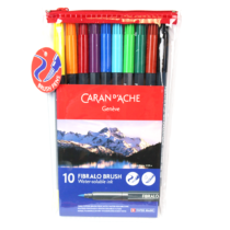 caneta-fibralo-brush-10-estojo-caran-d-ache