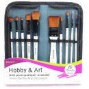 Kit de Pincéis Sinoart Hobby & Art 10 Pincéis