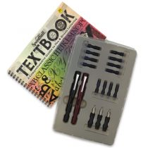 caneta caligrafica kit luxo speedball 2904