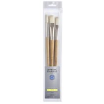 Kit Pinceis lefranc cod 3013644051717-LB EXTRA-FINE 3 BRUSH PACK LONG HANDLE