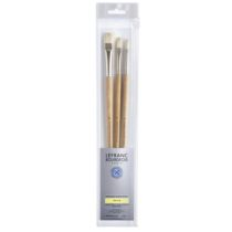 kit pinceis lefranc cod 3013644051724-LB EXTRA-FINE 3 BRUSH PACK LONG HANDLE 3013644051724